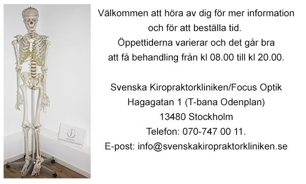 Kontakta Svenska Kiropraktorkliniken